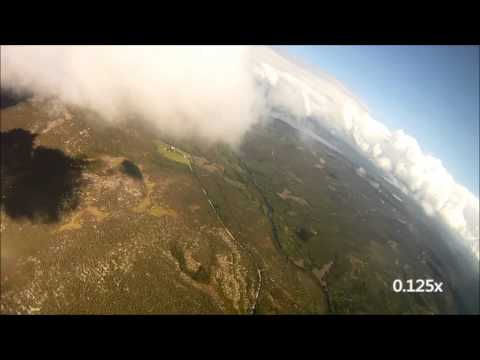Meteorite passing skydiver (Video)