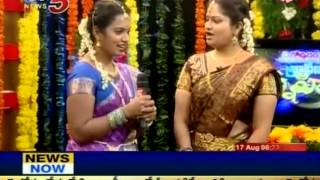 Snehita - Sravanamasam Special Program With Celebrity Wifes (tv5) - Part 07