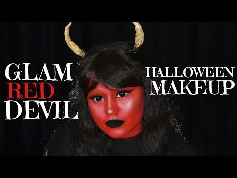 Glam Red Devil Halloween Makeup | SarahAyu