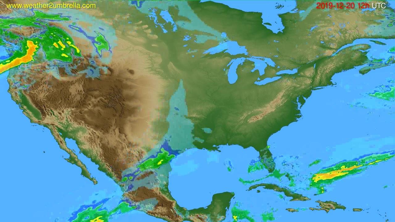 Radar forecast USA & Canada // modelrun: 00h UTC 2019-12-20