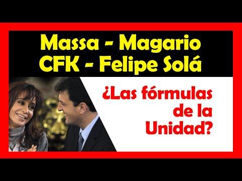 ¿CFK-Felipe Solá en Nación, Massa-Magario en Provincia las fórmulas del P.J.?