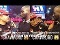 (WOW!) TERENCE CRAWFORD CONFRONTS ROBERT GARCIA; TELLS HIM HE'LL KNOCK OUT MIKEY GARCIA