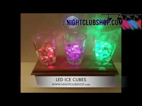 LED WATER ACTIVATED ICE CUBES, LED FLASHES BRIGHT, GLOW, BOTTLE SERVICE VIP - NightclubShop.com