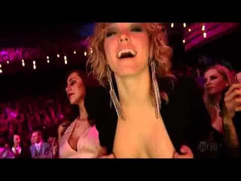 Lily LaBeau rubs boobs into camera (видео)