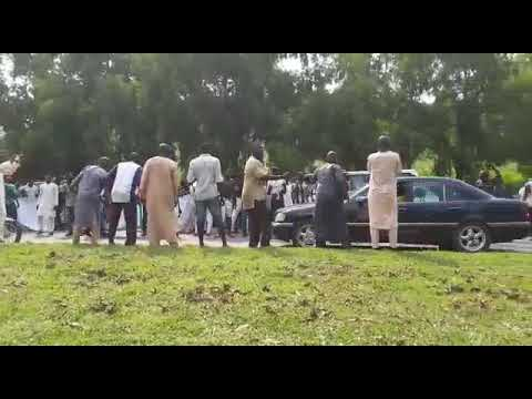 After 3months president Buhari arrived jubilation and celebration on the street of abuja