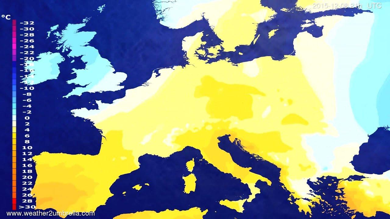 Temperature forecast Europe 2015-12-05