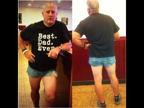 mackintoshes - A Utah dad fed up with his daughter's preference for very short shorts decided to teach her a lesson by donning some Daisy Dukes of his own. Scott Mackintosh...