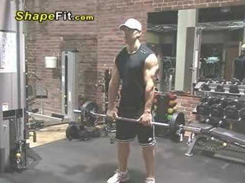 Trapezius Exercises – Barbell Shrugs For Building Big Traps