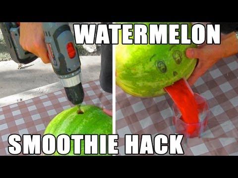 西瓜快速變西瓜汁!