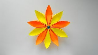 Простой Бумажный цветок Оригами поделки для украшения подарка