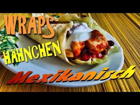 Mexikanische Wraps mit Hähnchen | Wraps mexikanische Füllung |
