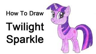 Видео: рисуем Твайлайт Спаркл карандашом