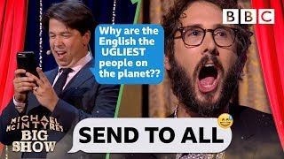 Video Josh Groban CRINGING with embarassment 😳😂 as Michael steals his phone to TRASH the UK - Send To All MP3, 3GP, MP4, WEBM, AVI, FLV Desember 2018