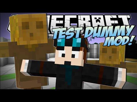 Minecraft | TEST DUMMY MOD! (The Indestructible Object!) | Mod Showcase