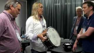 Celebrating a relationship that spans two decades, Premier proudly present Nicko McBrain of Iron Maiden with a special one-off snare drum at the NAMM Show ...