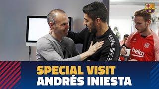 Video Andrés Iniesta pays a visit to Barça training session MP3, 3GP, MP4, WEBM, AVI, FLV Februari 2019