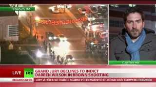 No indictment for Ferguson cop who killed Michael Brown - YouTube