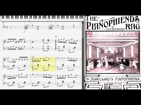 George Botsford - The Pianophiends Rag (1909, Ragtime piano)
