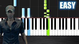 Enrique Iglesias - Bailando - EASY Piano Tutorial  Ноты и М�Д� (MIDI) можем выслать Вам (Sheet music