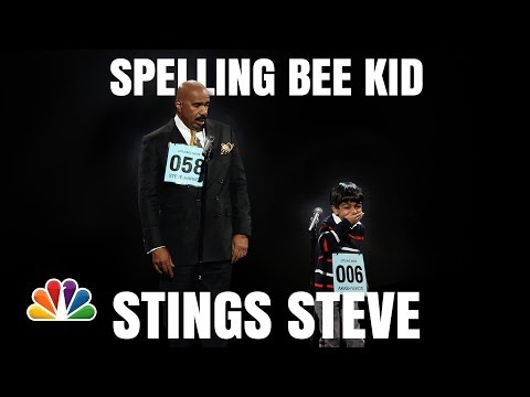 Little Big Shots | Steve Harvey and Akash Funny Spelling Bee | Season 1 2016