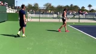 Johanna Konta's ball bounce and service motion