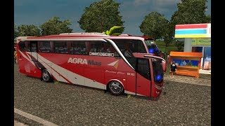 Agra Mas sport bus knalpot jeett || ets2 bus mod indonesia