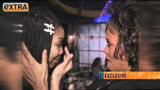 'Extra's' Lost Video! Brandy and Whitney Houston's Meeting in 1995 - YouTube