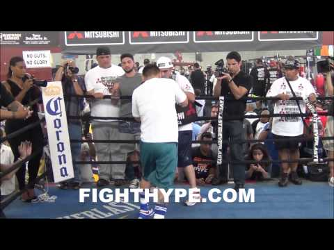 media - FightHype.com was on hand at the Robert Garcia Boxing Academy in Oxnard, California where former welterweight champion Marcos Maidana held a media workout ahead of his anticipated September...