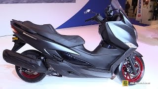 7. 2017 Suzuki Burgman 400 ABS - Walkaround - Debut at 2016 EICMA Milan