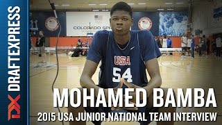 Mohamed Bamba 2015 USA Basketball Mini-Camp Interview by DraftExpress