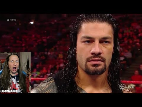 WWE Raw 2/26/18 Roman Reigns calls out Brock Lesnar