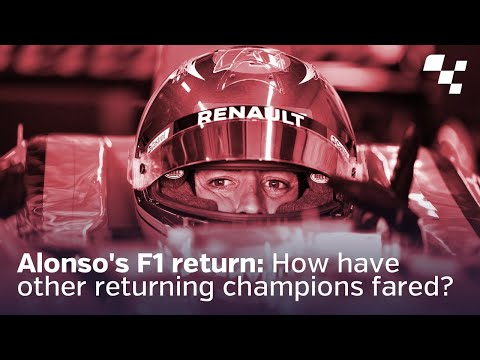Alonso's F1 return: How have other returning champions fared?