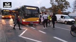 Rowerzysta blokujący ruch kontra kierowca autobusu. To się zdziwił