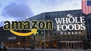 SEATTLE — Amazon has agreed to buy upscale grocery chain Whole Foods for $13.4 billion, which now gives the online retail juggernaut physical stores across the country.   The grocery business accounts for about $800 billion in annual spending in the U.S. Dominant players like Walmart, Kroger, Costco and Target are suddenly looking over their shoulders. It's no secret Amazon's vision for retail involves a lot of automation. Think of how nice it'll be to buy asparagus water and other insanely overpriced produce without having to talk to anyone or even take out your wallet or purse.  Amazon has said robots and drones won't be stealing anyone's job — for now at least.   Fresh foods are the final frontier for Amazon.  Soon Amazon will control all of our shopping needs, eliminating the need to have to ever step out of your house again. Ah — mass consumerism.-------------------------------------------------------------Go to https://www.patreon.com/tomonews and become a Patron now TomoNews is now on Patreon and we've got some cool perks for our hardcore fans.TomoNews is your best source for real news. We cover the funniest, craziest and most talked-about stories on the internet. Our tone is irreverent and unapologetic. If you're laughing, we're laughing. If you're outraged, we're outraged. We tell it like it is. And because we can animate stories, TomoNews brings you news like you've never seen before.Visit our official website for all the latest, uncensored videos: http://us.tomonews.comCheck out our Android app: http://bit.ly/1rddhCjCheck out our iOS app: http://bit.ly/1gO3z1fGet top stories delivered to your inbox everyday: http://bit.ly/tomo-newsletterSee a story that should be animated? Tell us about it! Suggest a story here: http://bit.ly/suggest-tomonewsStay connected with us here:Facebook http://www.facebook.com/TomoNewsUSTwitter @tomonewsus http://www.twitter.com/TomoNewsUSGoogle+ http://plus.google.com/+TomoNewsUS/Instagram @tomonewsus http://instagram.com/tomonew