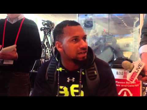 Ole Miss WR Donte Moncrief at NFL Combine