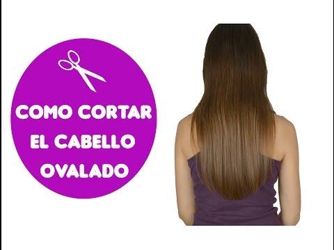 Como cortar el cabello ovalado / How to cut your own hair