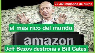 El empresario estadounidense Jeff Bezos se ha convertido en el hombre más rico del mundo, arrebatando este reconocimiento a...
