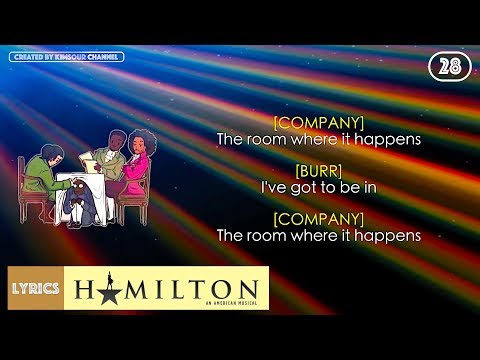 Video #28 Hamilton - The Room Where It Happens (VIDEO LYRICS) download in MP3, 3GP, MP4, WEBM, AVI, FLV January 2017