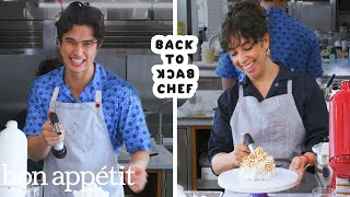 Charles Melton Attempts To Keep Up with a Professional Chef   Back-to-Back Chef   Bon Appétit