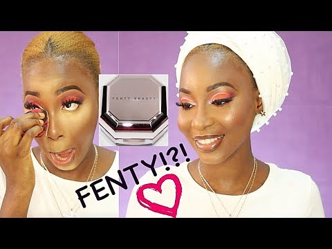 Is This Even A Valentine Inspired Look?? | Fenty Beauty Setting Powder Try Out!!