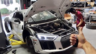 MY AUDI R8 IS BACK FROM THE FRAME SHOP!!! by TJ Hunt