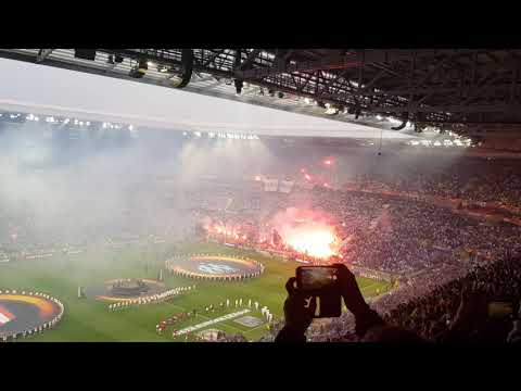Final Europa league Olympique de Marseille & Atletico de Madrid Supporter ambiance