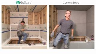 GoBoard vs. Cement Board Shower Installation