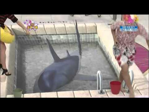 착시효과 3D그림 아트의 향연! @놀라운 대회 스타킹 StarKing 20120922 (видео)