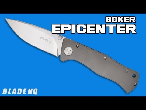 "Boker Epicenter Knife Titanium (3.5"" Satin) 01BO170"