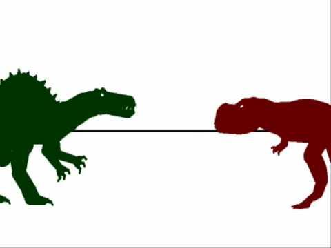 PJFC Trex vs Spinosaurus