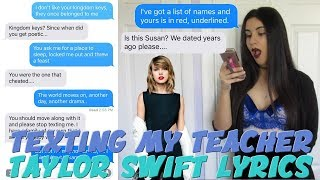 "Video TEXTING MY TEACHER TAYLOR SWIFT ""LOOK WHAT YOU MADE ME DO"" LYRICS 