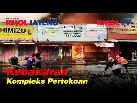 Kebakaran Belasan Toko di Bobotasari Purbalingga