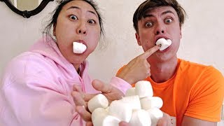 CHUBBY BUNNY CHALLENGE WITH MY CRUSH!!
