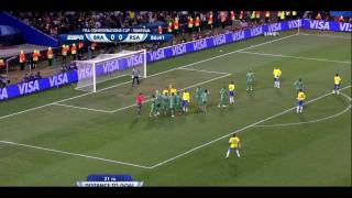 Dani Alves´ Treffer gegen Südafrika (Confederations Cup 2009)